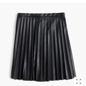 J Crew Pleated Leather Skirt 04